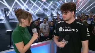 Dyrus Emotional Interview with Sjokz - Worlds 2015 W2D3 - League of Legends