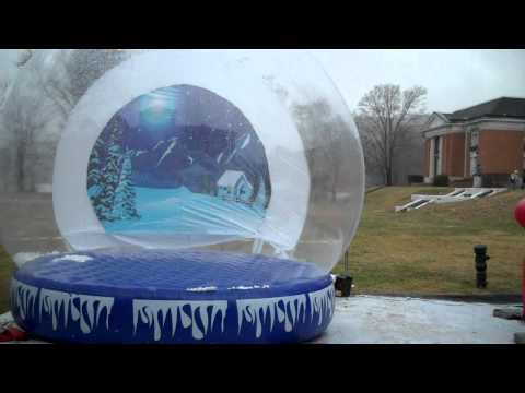 Phantom Shadow Human Snow Globe and Big Red Chair Photo Novelty Program in Tennessee 1.25.2011