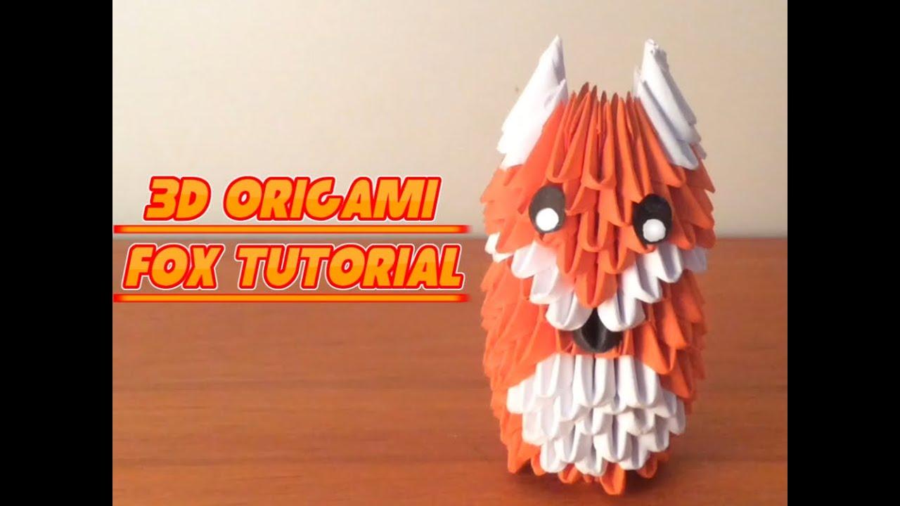 hight resolution of 3d origami fox tutorial