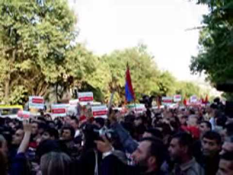 Yerevan, Armenia: Protests Against The Signing Of Turkish-Armenian «Protocols»