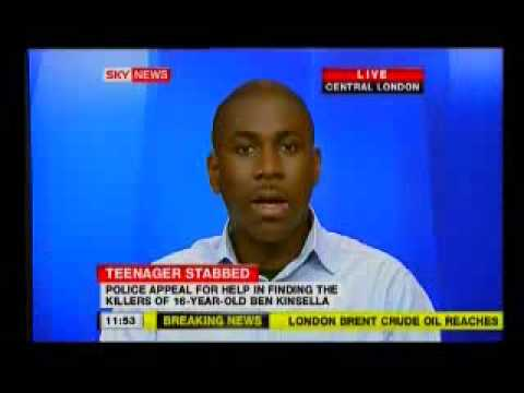 "Nathan John on Sky News - 30/6/08: ""Ben Kinsella Stabbing"""