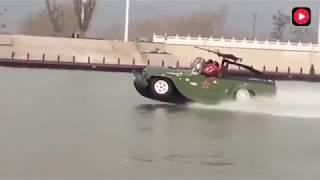 啊娘喂喔~一顆賽艇~共軍解放軍水陸兩棲快艇吉普車 China PLA Army Amphibious Speedboat Jeep