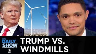 Donald Trump continues his decade-long vendetta against windmills, citing shaky scientific reasoning and aesthetic concerns. Subscribe to The Daily Show: ...