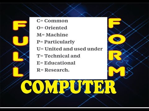 Full Form of Computer related word.Full Form of Computer (COMPUTER) computer full form Ratnakar Sir