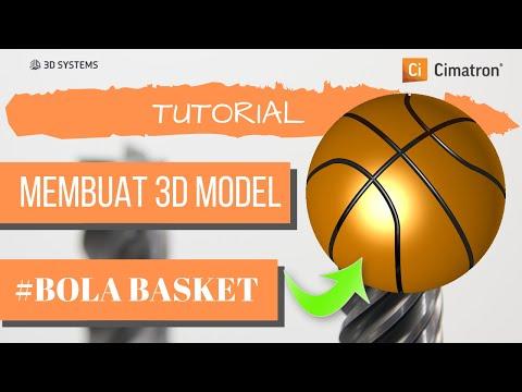Cimatron Tutorial Membuat 3D Model Bola Basket Di Cimatron 14