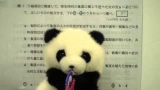【日本史】原始④ センター試験の勉強法 ぱんだの日本史