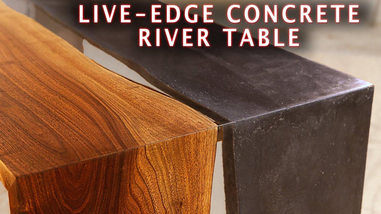 Making a Live Edge CONCRETE EPOXY RIVER TABLE