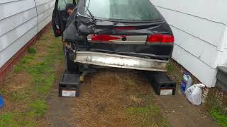 Busted Saab reverse onto ramps