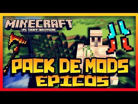 Pack De Mods Para Minecraft PE 1.0.0 Oficial Epicos