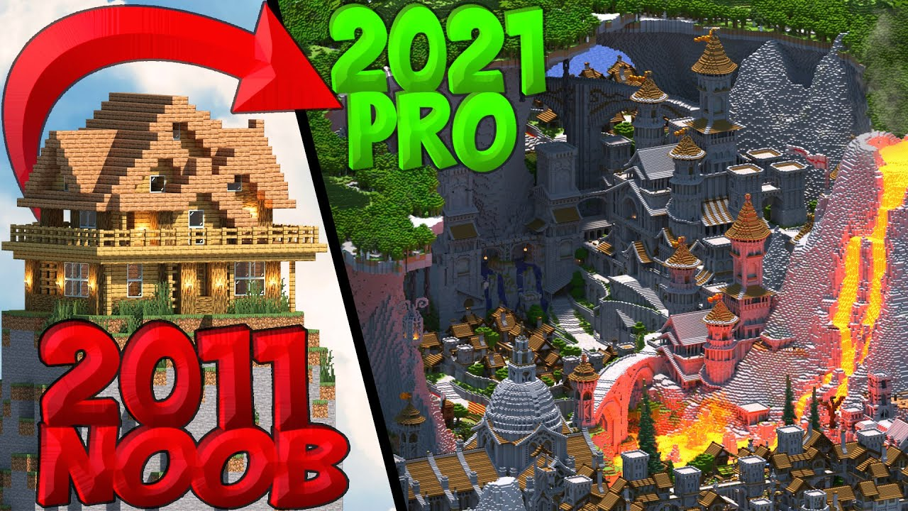 The 10 Year Evolution of Jeracraft's EPIC Minecraft Worlds!