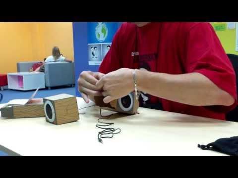 видео: Картонные колонки от dropbox