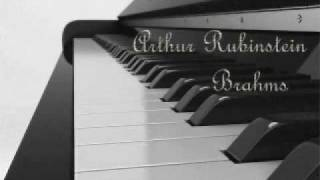 Arthur Rubinstein - Brahms Intermezzo, Op. 118, No. 2 in A major