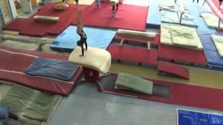 Опорный прыжок. Спортивная гимнастика. Кировоград.