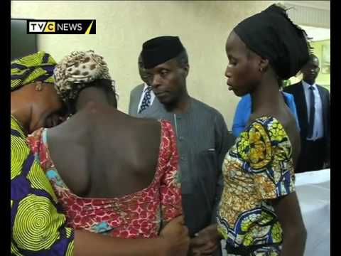 Nigeria's Vice President Osinbajo meets freed Chibok School  Girls