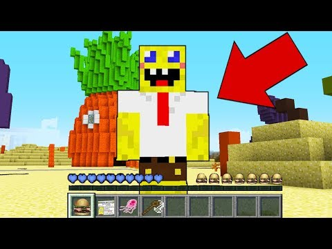 Minecraft - HOW to play SPONGEBOB in Minecraft : NOOB SPONGEBOB LIFE Animation realistic