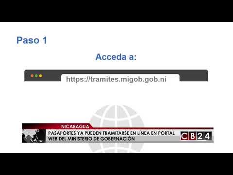 Pasaportes en Nicaragua ya pueden tramitarse en línea