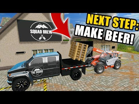 BEER FACTORY | FINISHING MAKING PALLETS FOR THE FACTORY | FARMING SIMULATOR 2017 | EP #2