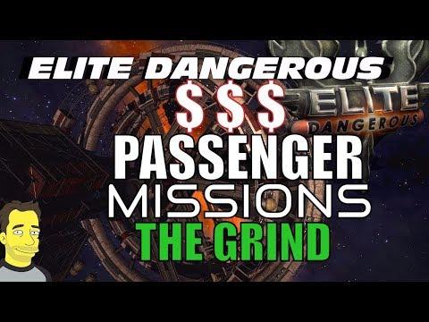 Elite Dangerous : Grinding Passenger missions Live
