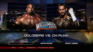 WWE 2K14 PS3 Gameplay - Goldberg VS CM Punk [60FPS][FullHD]