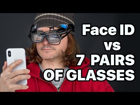 Can iPhone X Face ID Read Thru 7 Pairs Of Glasses?