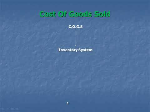 4- Cost of goods sold