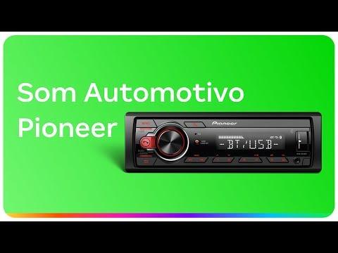 Som Automotivo Pioneer MP3 Player Rádio AM/FM - Bluetooth USB