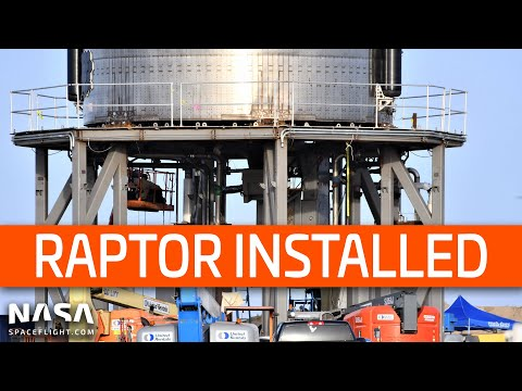 SpaceX Boca Chica - SN27 Raptor Installed - Mystery Dome in work