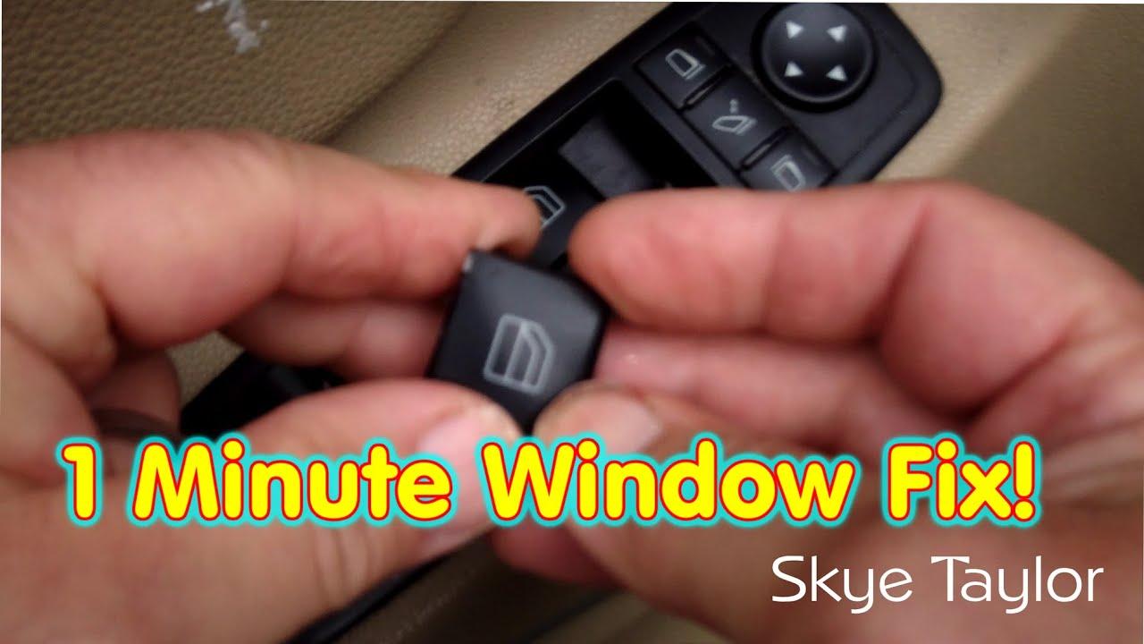 HOW TO FIX A BROKEN POWER WINDOW BUTTON ON A MERCEDES GL450  Class ML  R  YouTube