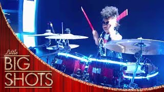 Geneva Queen of The Drums Covers Phil Collins | Little Big Shots