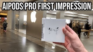 Gambar cover AirPods Pro pickup vlog + first impressions