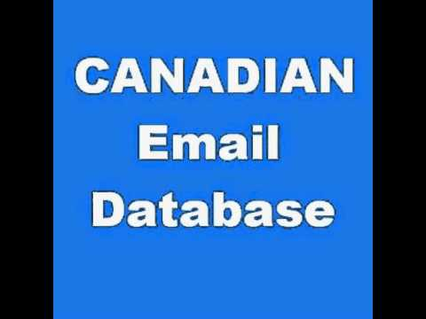 Canadian B2B Email List & B2C E-mail database purchase