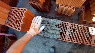 Jak murować ściany nośne z pustaka - jak nakładać zaprawę na pustaka