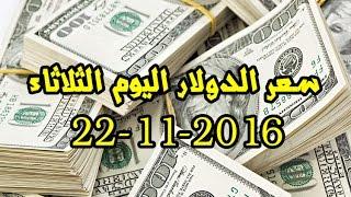 مفاجأة فى سعر الدولار اليوم الثلاثاء 22-11-2016 فى البنوك والسوق السوداء.. شاهد التفاصيل