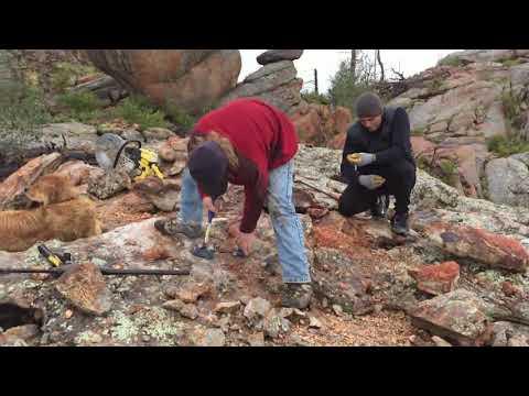 Digging For Colorado Topaz.