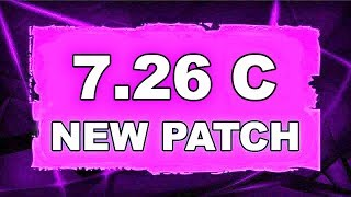Dota 2 NEW 7.26c UPDATE - MAIN CHANGES!