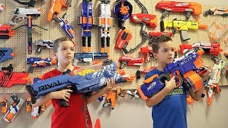 Nerf War:  The Ultimate Nerf Wall
