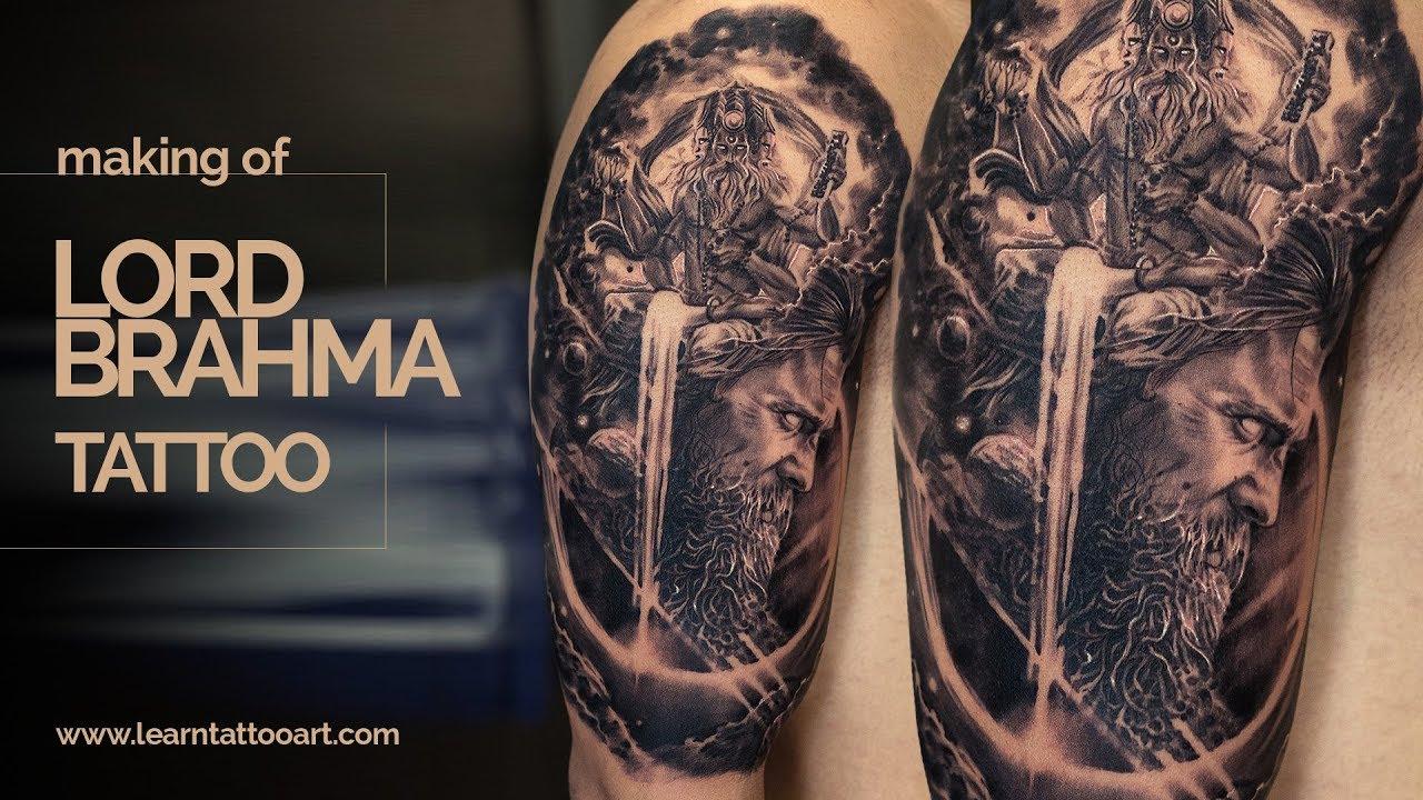 Realism Tattoo Time Lapse  Making Of Brahma Arjuna Tattoo