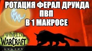 РОТАЦИЯ ФЕРАЛ ДРУИДА в 1 МАКРОСЕ ПВП WoW Легион