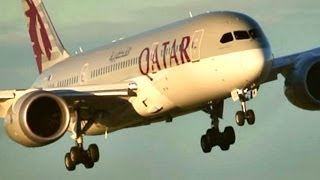 "Go Around!! + Landing. Qatar - Boeing 787-8 ""Dreamliner"" with Live ATC"