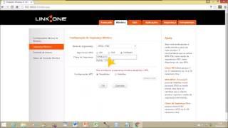 Como mudar a senha do wifi - Roteador link one