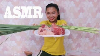 ASMR Cooking Fry Pork With Lemon Grass Special Delicious Recipe - Eating Food Show - No Talking