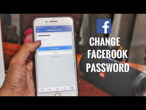 How to change facebook password on phone