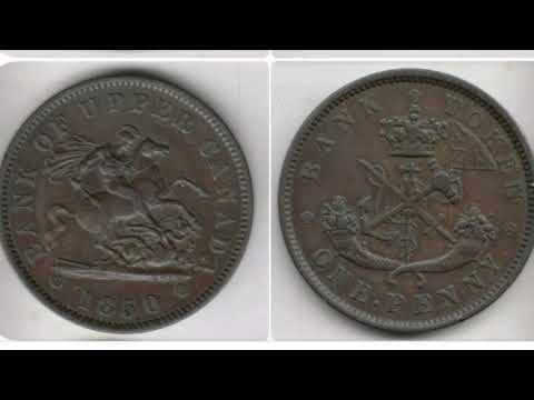 CANADA 1850 ONE PENNY Coin VALUE - Bank Of Upper Canada 1850 Bank Token
