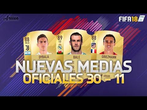 FIFA 18 NUEVAS MEDIAS OFICIALES TOP 30 - 11! MUCHOS CRACKS!