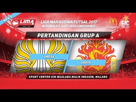 UNESA VS UBAYA di LIMA Futsal McDonald's East Java Conference 2017 (Men's)