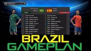 PES 2013 - Best (Brazil) Gameplan / Formation !!! (HD)