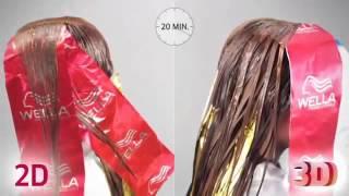 видео 3d окрашивание волос