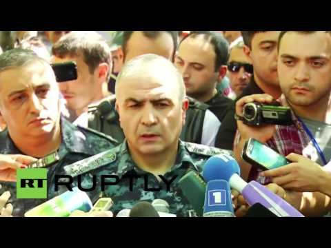 Armenia: Police confirm 1 officer killed in ongoing hostage situation