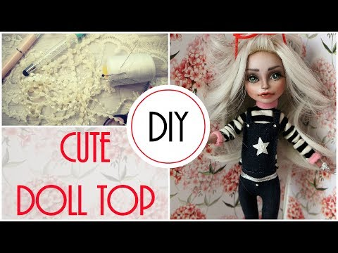 How To Make Basic Top For Monster High Dolls / Easy Tutorial + Free Pattern