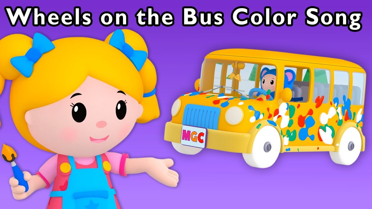 Wheels On The Bus Color Song